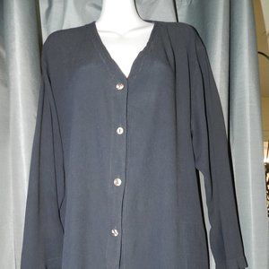 Ghost London v-neck button front loose jacket/top